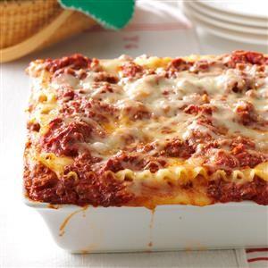 Best Lasagna Recipe from Taste of Home