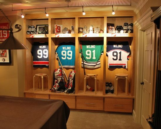 Family Room Sports Memorabilia Design Pictures Remodel Decor And Ideas