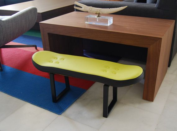 Gift ideas for your skateboarder boyfriend's birthday. This skate stool is  perfect for a bedroom