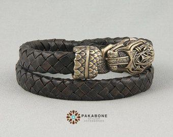 Viking Armband mit Dragon es Kopf skandinavischen Armband
