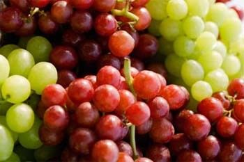 Red Grapes Vs. Green Grapes      Purple grapes are healthier. Generally, the darker the fruit, the more potent the antioxidant profile.