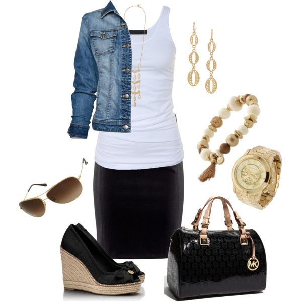 Mk sachel and black wedges love love paired with the for Stella and dot jewelry wholesale