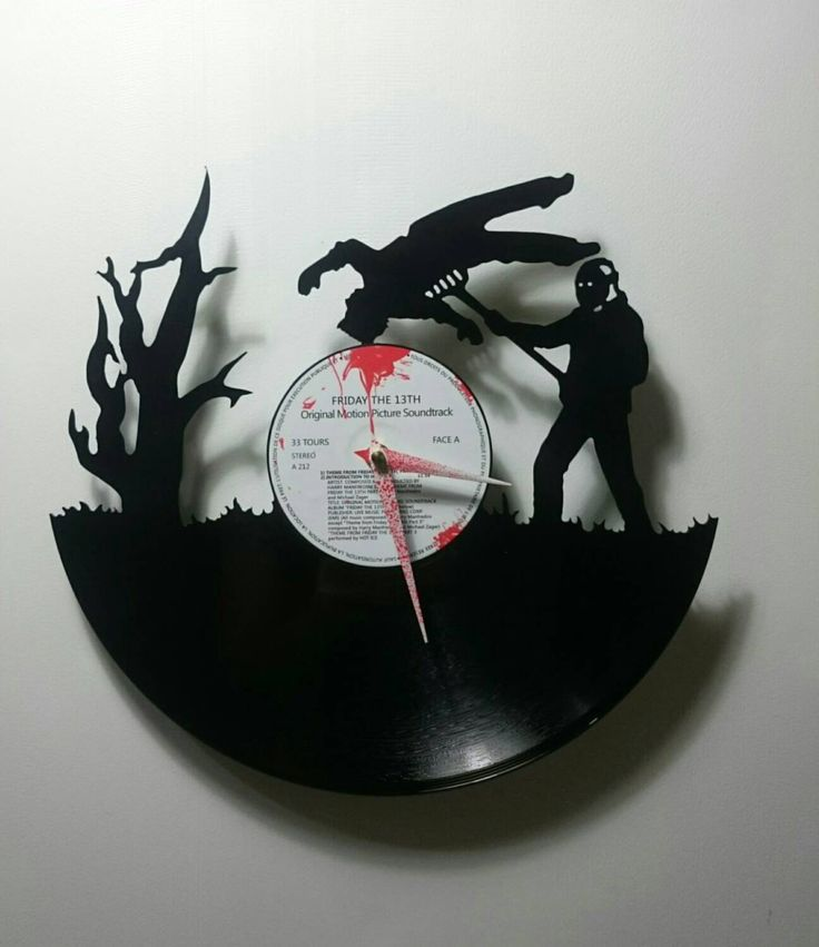 Friday the 13th Record Clock by High5Design on Etsy https://www.etsy.com/listing/221700545/friday-the-13th-record-clock