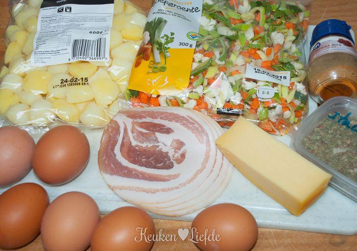 Boerenomelet met krieltjes - Keuken♥Liefde