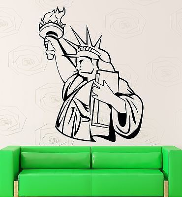 Statue of Liberty Wall Stickers USA Monument Patriotism Vinyl Decal (ig661)