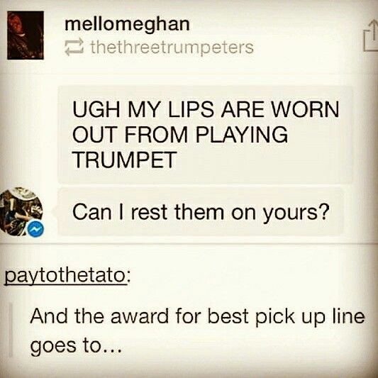 Band pick up lines