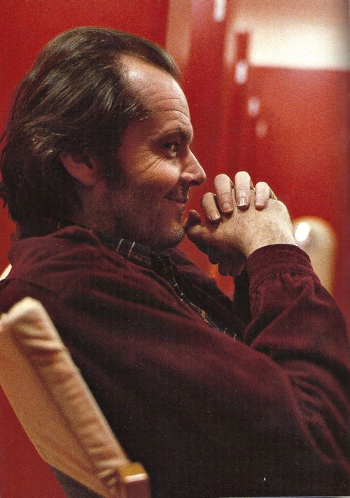 "Jack Nicholson on the set of ""The Shining"" (1980)."