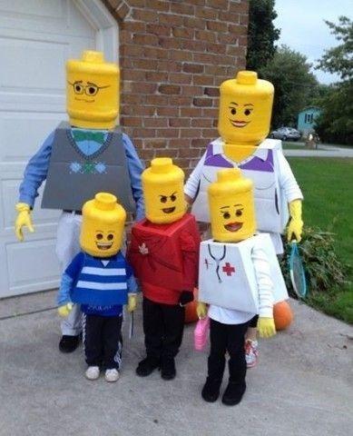 Lego Karnevalskostüm für die ganze Familie