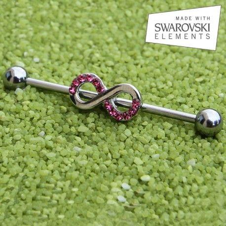 Piercing Industriel kit Infini Cristaux de Swarovski roses https://piercing-pure.fr/p/373-piercing-industriel-kit-infini-cristaux-de-swarovski-roses.html #Swarovski #piercingoreille #bijoux