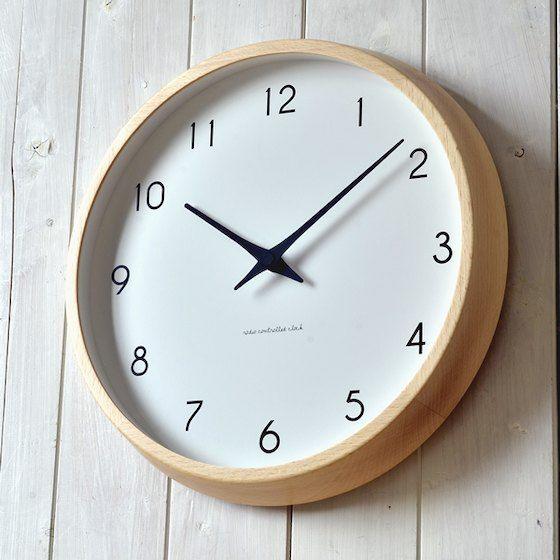 渡辺力デザインの代表的な電波掛け時計です。。掛け時計 電波時計 Lemnos レムノス riki clock RC リキクロック 渡辺力 北欧 おしゃれ かわいい