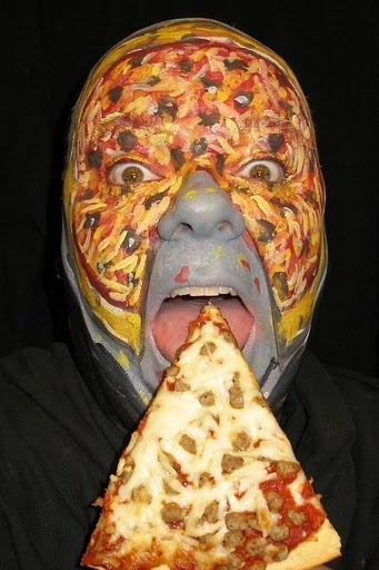 face painting pizza