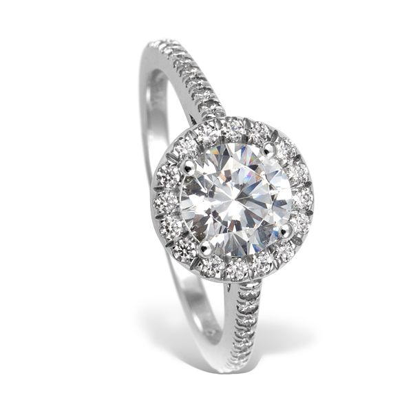 Mark Patterson Platinum and Diamond Enagement Ring - Halo Style - R.F. Moeller Jeweler