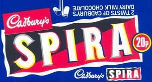 Spira's distinctive form came from new chocolate extrusion technology. And rumour has it that some Spira customers used to bite the ends of the hollow chocolate 'straw' and then use it to drink hot beverages, melting the inside. So wrong it's right!