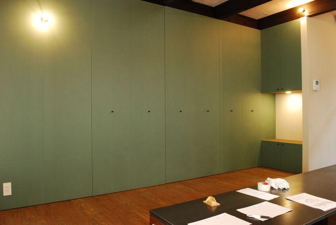 荒谷省午建築研究所 設計の京町家の改修工事 福井の越前和紙 建具