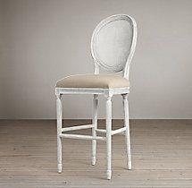 Vintage French Round Cane Back Fabric Stool & 58 best Bar Stools images on Pinterest | Bar stools Kitchen ... islam-shia.org
