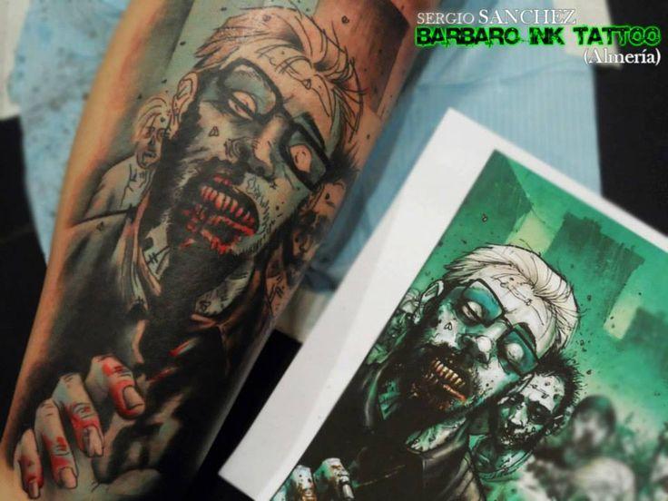 #tattoo #tattooist #tattoolife #tattooartist #tattoofreakz #tattoolifemag #tattooistartmag #tattooed_body_art #tattooistartmagazine #thebesttattooartists #thebestpaintattooartists #inkedmag #inkfreakz #crazytattoos #bloodygirls #tattooalmeria #tattooed #tattooedgirls #terrortattoo #colortattoo #thewalkingdead #zombiestattoo