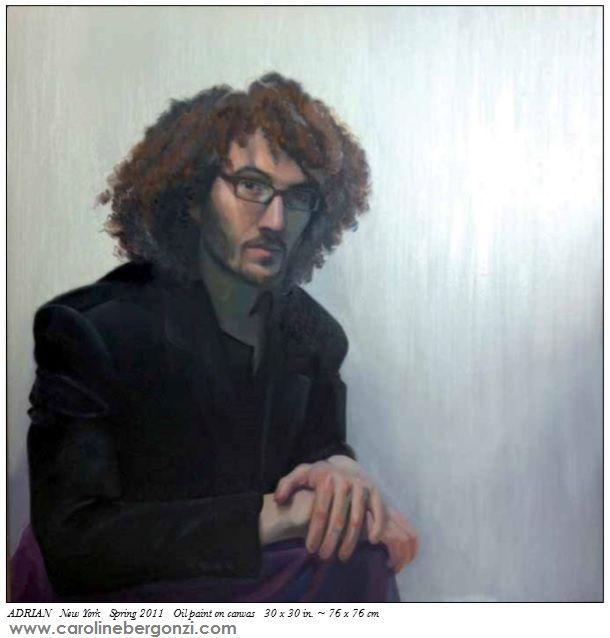 "Art studio glimpse: #Live portraits by #Caroline Bergonzi.  Extract of the ""Caroline Bergonzi Creative Odyssey"" 400-page art book, available on #Amazon."