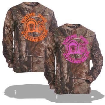 Eskimo joes women's Camo shirt medium in orange