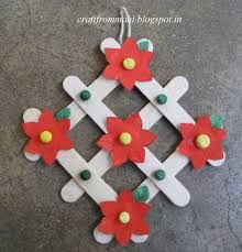 Image result for craft work using ice cream sticks