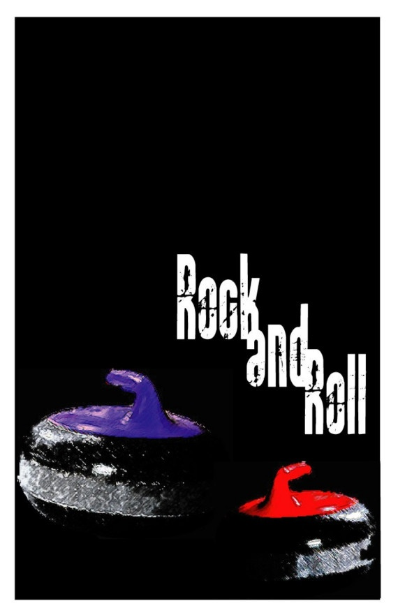 Rock and Roll Curling 11 x17 Poster by RedToque on Etsy, $6.00