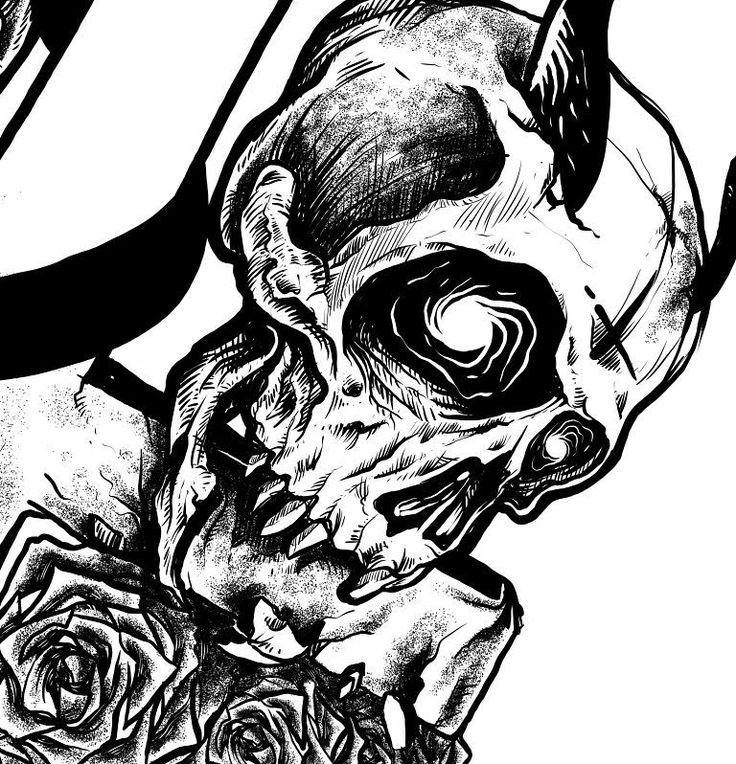 Wip #art #drawing #illustration #skull #blackwhite #darkart #artoftheday #gajahnakaldesign by gajahnakal mail me on doaibv@gmail.com