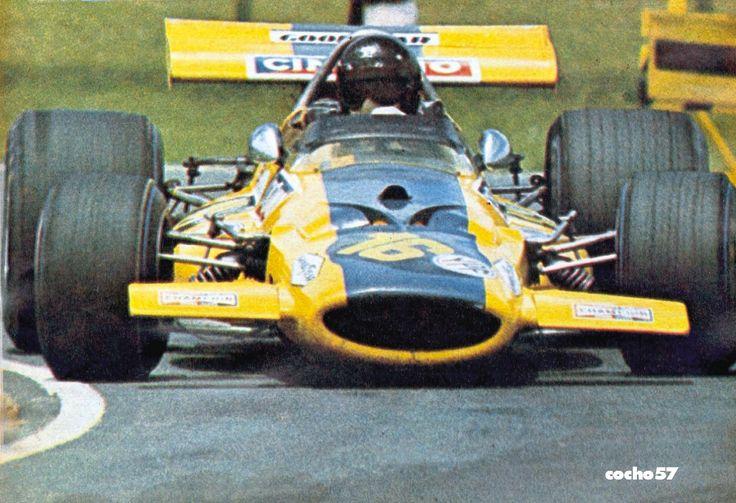 Carlos Reutemann, McLaren M7C Ford (Ecurie Bonnier), Argentine Grand Prix, Non-Championship race, 1971. Chris Amon, winner, Henri Pescarolo, 2nd, and Carlos Reutemann, 3rd, in his very first Formula 1 race.
