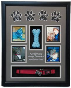 "16"" x 20"" Pet Memorial Shadow Box #12"