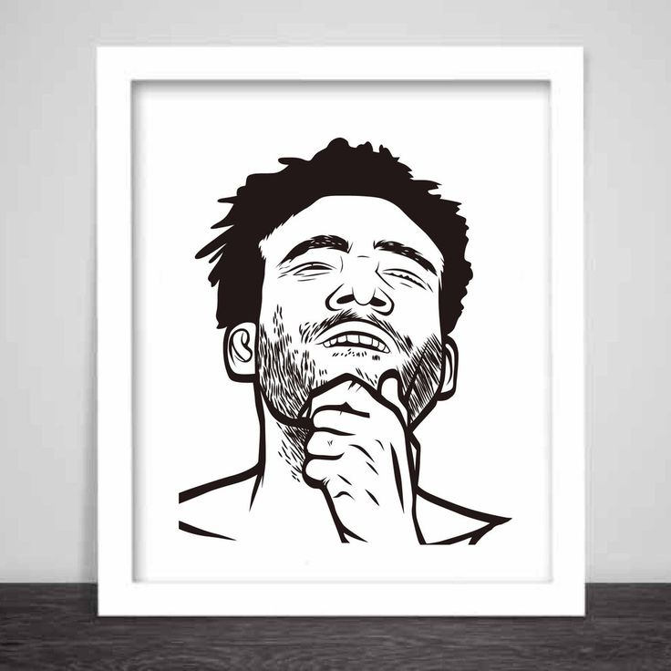 Childish Gambino Art Poster (3 sizes) // Donald Glover 3005 STN MTN/Kauai Because the Internet // Babes & Gents // www.babesngents.com
