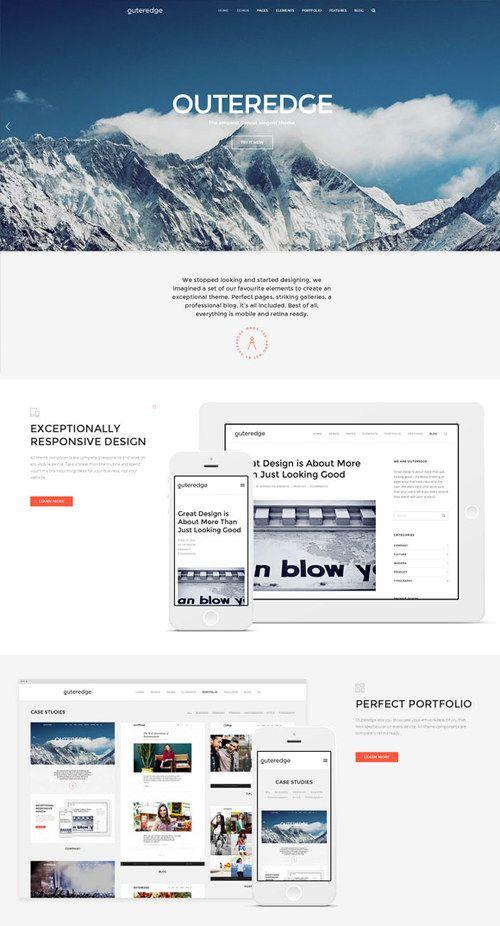 Outeredge WordPress Theme for Multi-Purpose websites | http://sundaestudio.com outeredge wordpress theme