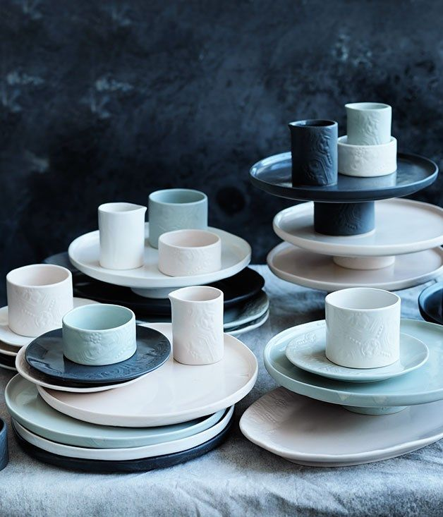 Tea is served here at Gourmet Traveller, with a special twist. We've teamed up with master pottery house Robert Gordon to create a range of tableware – introducing the Gourmet Traveller Signature Collection.#shopping