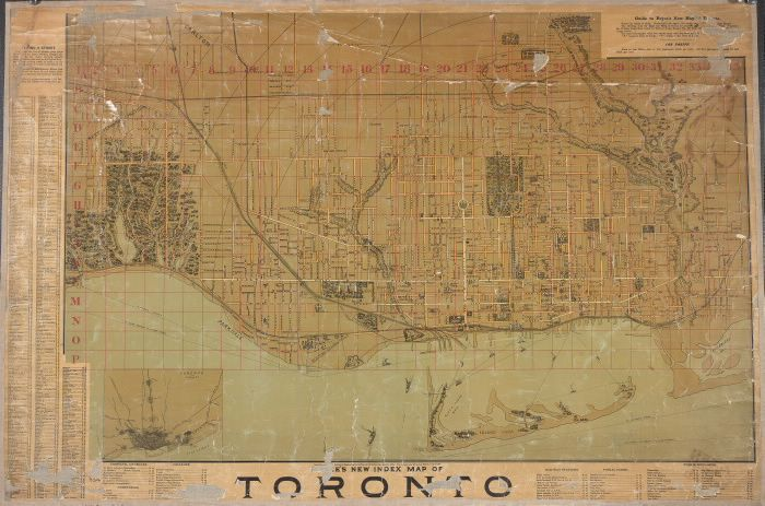 Bryce's new index map of Toronto, 1888