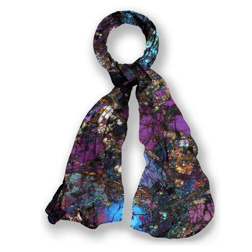 "A truly unique scarf using an actual piece of Stonehenge rock, and exclusive to English Heritage at Stonehenge. The creative process was managed by Professor Richard Weston, described by Vogue as ""the most unexpected new talent in British fashion"". Weston silk scarves are sold in Liberty, Harrods, Harvey Nichols and on Net-A-Porter as well as in other leading stores. Made in Italy with 85% modal, 15% silk"
