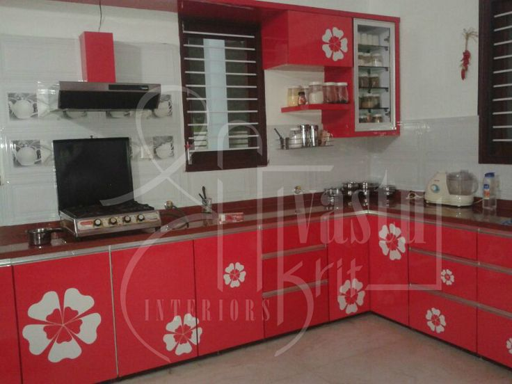 A vibrant kitchen to keep you fresh and energetic all day. Designed by #ShriVastuKrit #InteriorDesigner #VastuConsultant #Indore #Kitchen #ModernKitchen #Furniture