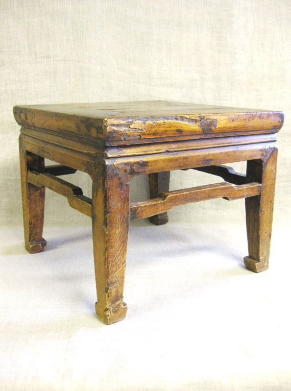Asian Wooden Stool Asian Table Side Table Footstool