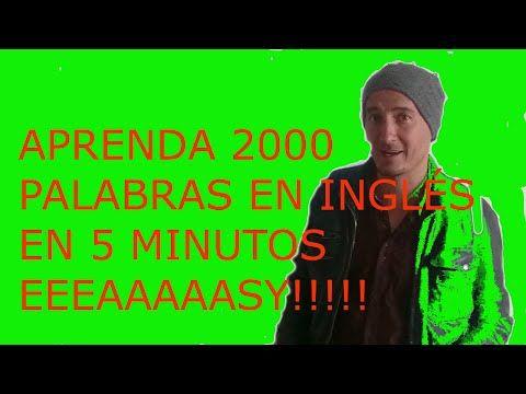 como aprender 2000 palabras en inglés en 5 mins- lesson- 1 - YouTube