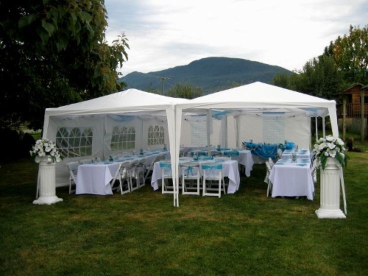 Gazebo Graduation Party Party Tent Decorations Backyard Tent