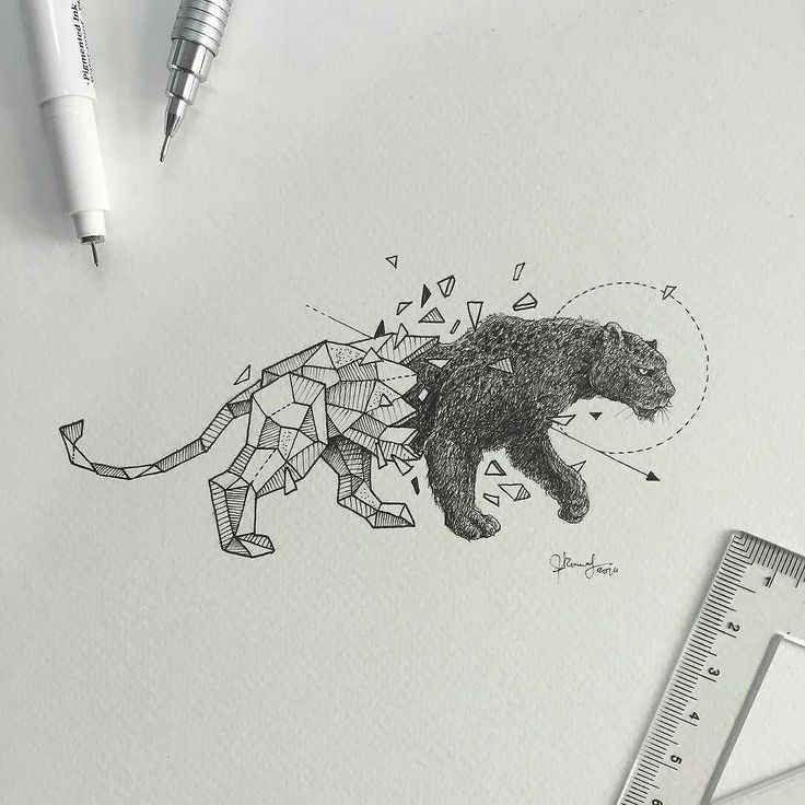 Repost from @kerbyrosanes  Geometric Beasts | Black Panther   FOLLOW @zbynekkysela & TAG your artworks #DRKYSELA to be FEATURED!  HOT TIPS CLICK link in my profile   via http://instagram.com/zbynekkysela
