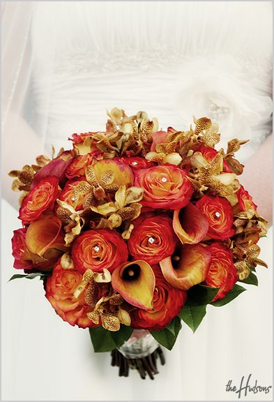 Bridal fall bouquet wedding pinterest - Flowers for wedding in october a colorful autumn ...