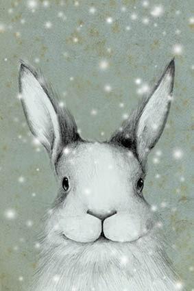 Philimonius originele wenskaarten onar originals originele kerstkaarten kerstkaart konijn sneeuw illustraties lieve claesen