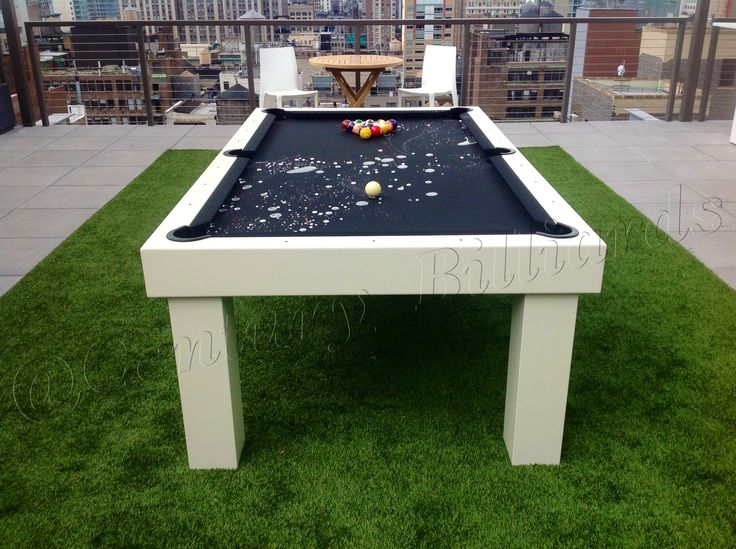Our Custom Outdoor Pool Tables Are 100% Waterproof. They Are The Most  Durable Pool