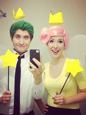 @aquabatx - Cosmo and Wanda... this needs to happen! :D  15 Fun, Unique DIY Halloween Cartoon Couples Costume Ideas | Gurl.com