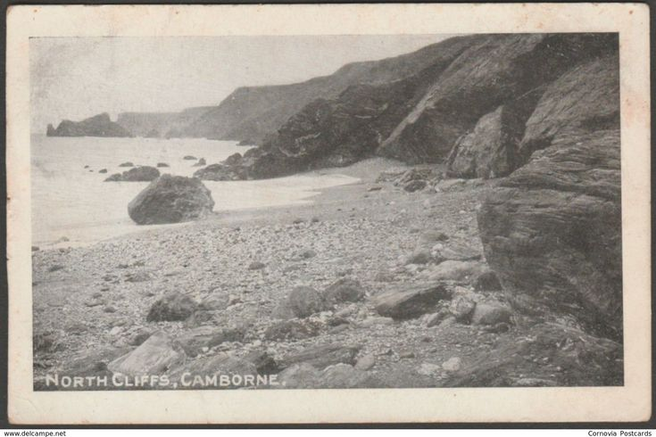 North Cliffs, Camborne, Cornwall, c.1905-10 - Postcard