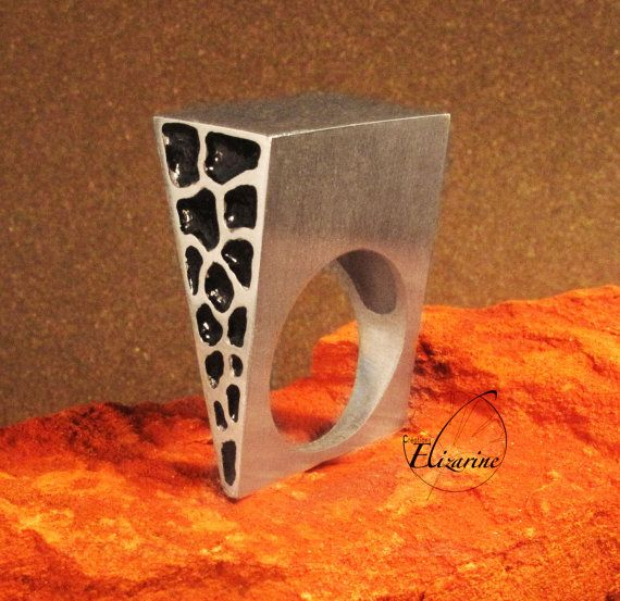 Alveoli ring  Imprint pattern Number four  by CreationsElizarine, €80.00