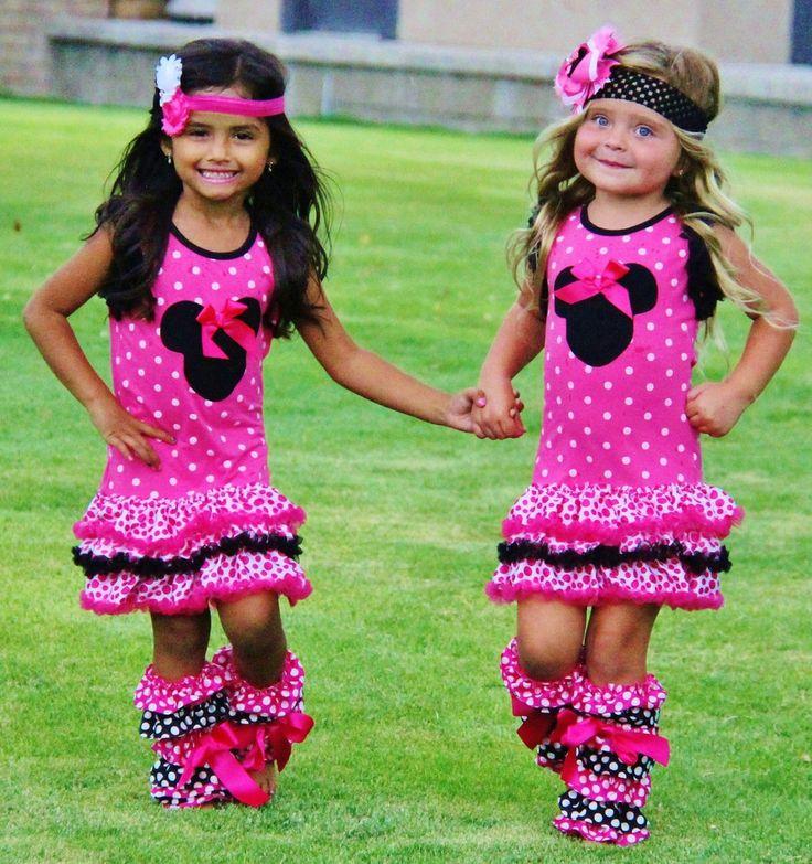Hot Pink Dot Dress #new
