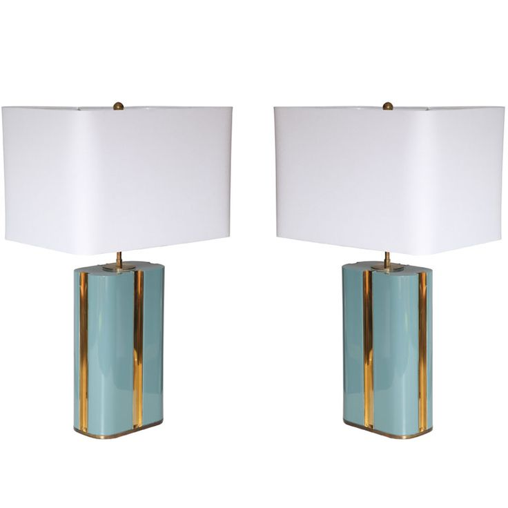 Exquisitely Designed Lacquered Lamps by Karl Springer | From a unique collection of antique and modern table lamps at http://www.1stdibs.com/furniture/lighting/table-lamps/