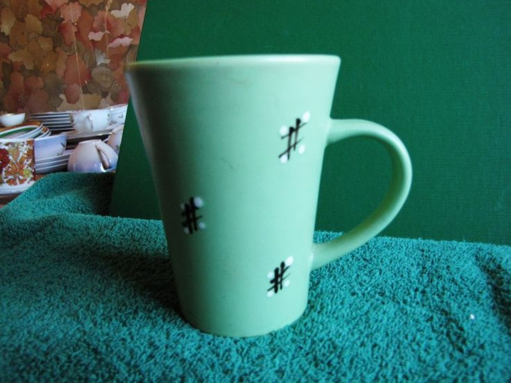 SWEDEN Gabriel COFFEE TEA MUG cappuccino milchcafe green