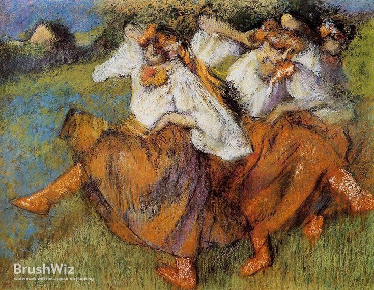 Russian Dancers by Edgar Degas - Oil Painting Reproduction - BrushWiz.com