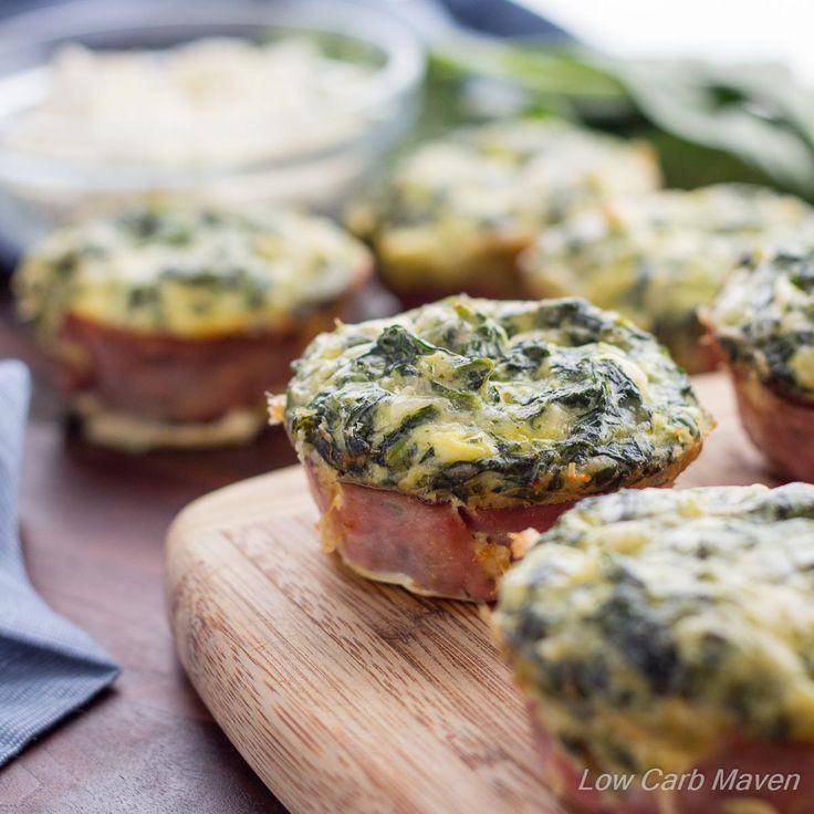 Spinach Feta Quiche Muffins | Low Carb Maven