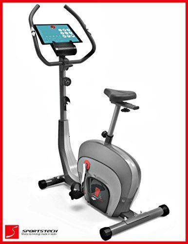 Sportstech ES400 Ergometer Hometrainer • Smartphone APP control • 10kg flywheel • Bluetooth • Pulse monitor • Hometrainer with magnetic brake system • Bicycle trainer • Fitness bike • Tablet holder