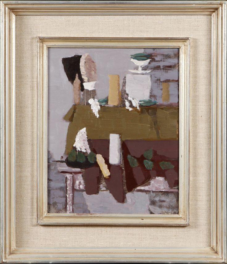Tuomas von Boehm: asetelma, öljy, 32x26 cm - Hagelstam A125